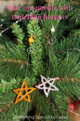 Star ornaments with matching hangers. Something Special by Fiona